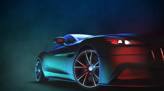 Auto sportiva moderna generica e senza marchio