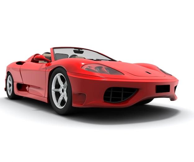 Auto sportiva rossa