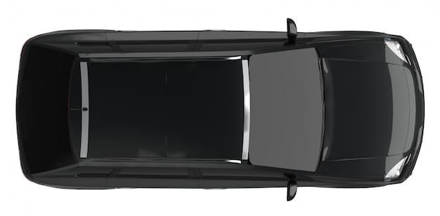 Automobile nera compatta da crossover da città
