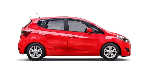 Automobile rossa della città con superficie in bianco per il vostro disegno creativo