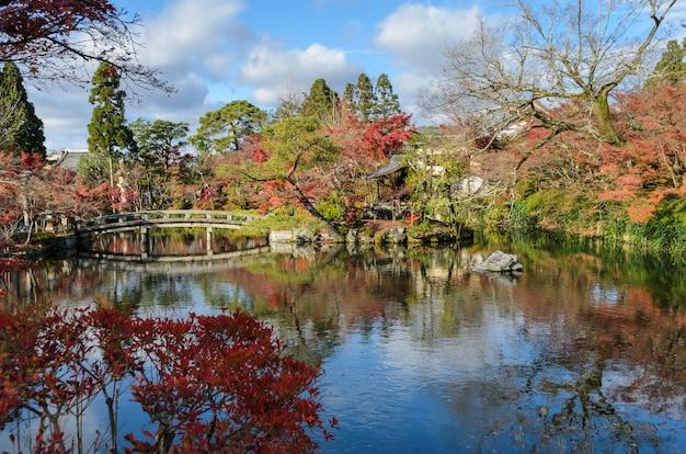 Autunno colorato a eikando o zenrin-ji temple a kyoto, in giappone
