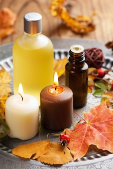 Autunno spa e aromaterapia