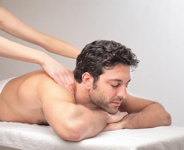Avere un bellissimo massaggio