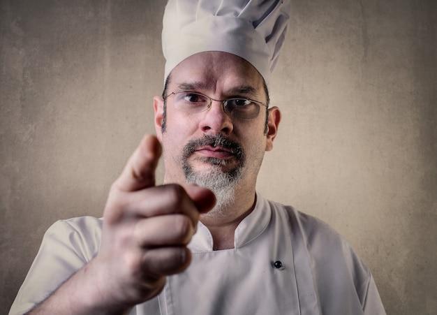 Avvertimento di chef professionista