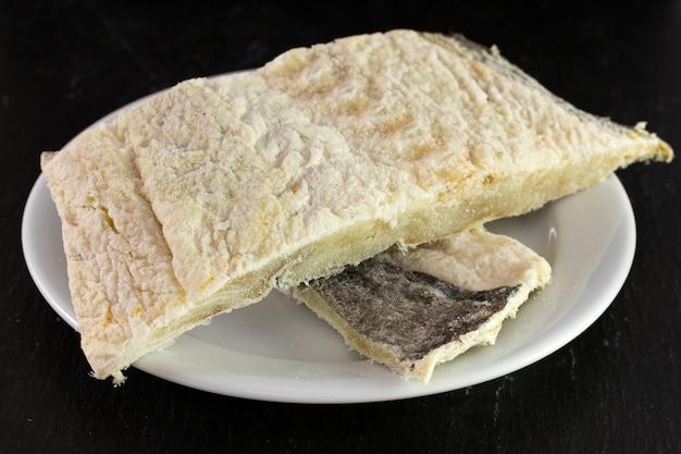 Baccalà salato sul piatto