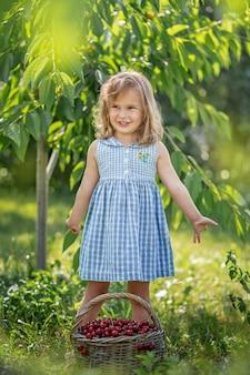 Bacche mature e dolci di estate nel frutteto