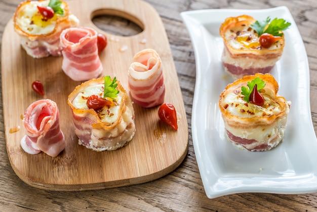 Bacon e portauovo
