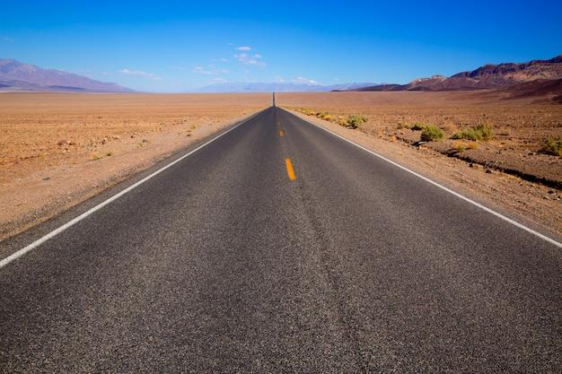 Badwater road parco nazionale della valle della morte in california