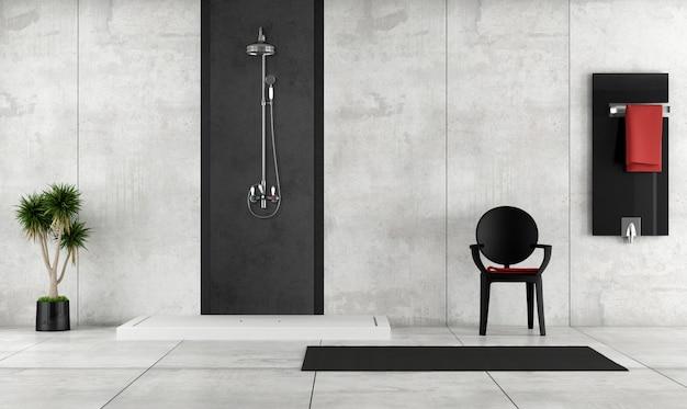 Bagno minimalista con doccia