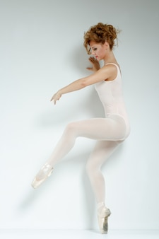 Ballerina in studio