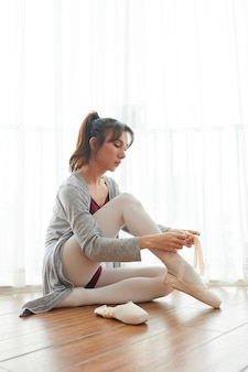Ballerina in studio