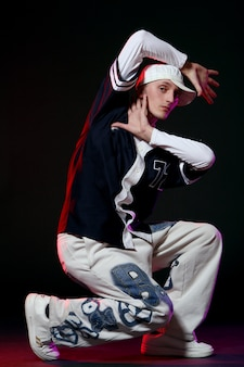 Ballerino hip-hop in ballo