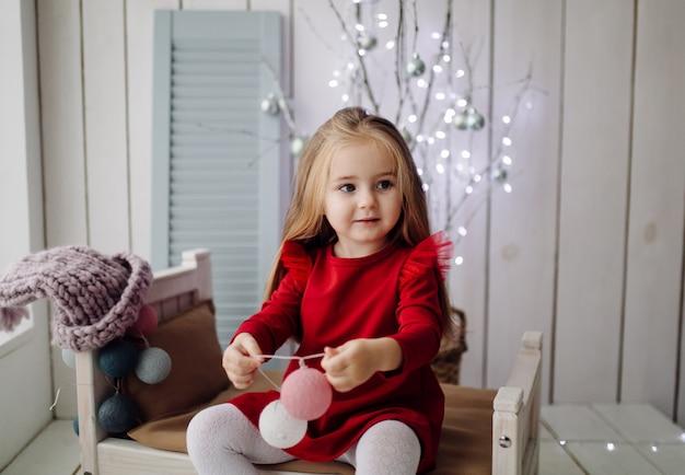 Bambina in studio
