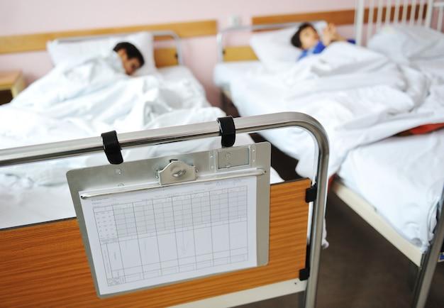Bambino malato in ospedale