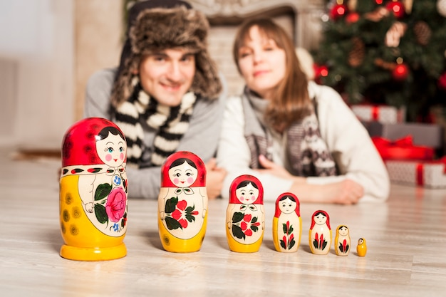 Bambole russe russe, souvenir russi