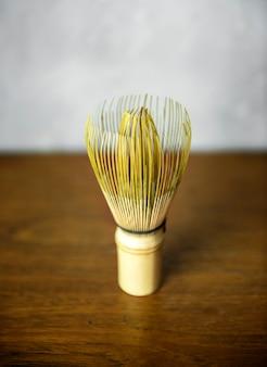 Bamboo matcha whisk japannese che beve la cultura del tè