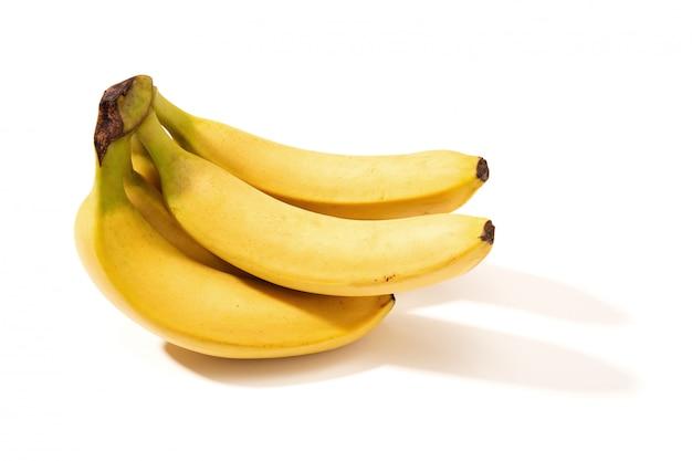 Banana fresca isolata su bianco