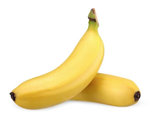 Banana isolata su bianco