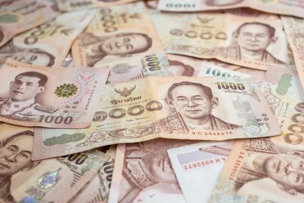 Banconota baht tailandese. affari, investimenti, finanza
