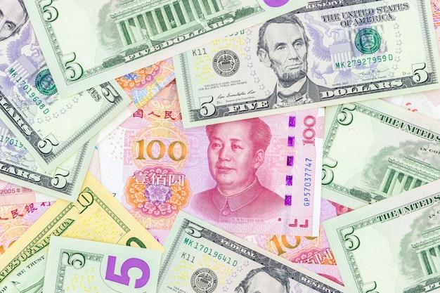 Banconote in banconote in renminbi yuan di valuta cartacea cinese