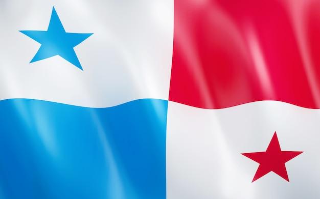 Bandiera 3d di panama.