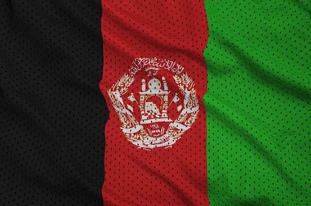 Bandiera afghanistan stampata su una maglia di abbigliamento sportivo in nylon poliestere