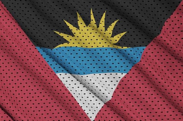 Bandiera antigua e barbuda stampata su una rete di nylon poliestere