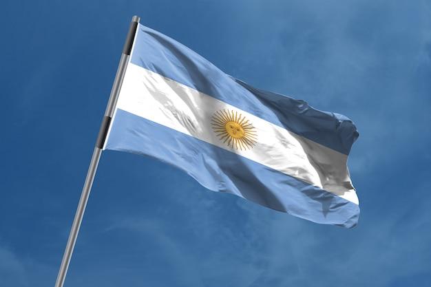Bandiera argentina che ondeggia