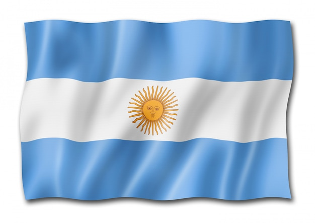 Bandiera argentina isolato