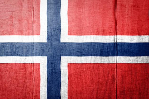 Bandiera bandiera sulla trama del tessuto.