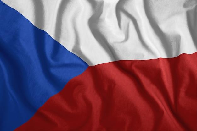 Bandiera colorata e nazionale della repubblica ceca