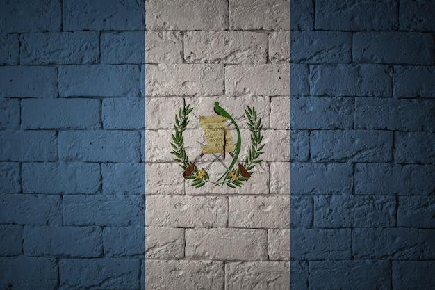 Bandiera con proporzioni originali. primo piano della bandiera del grunge del guatemala