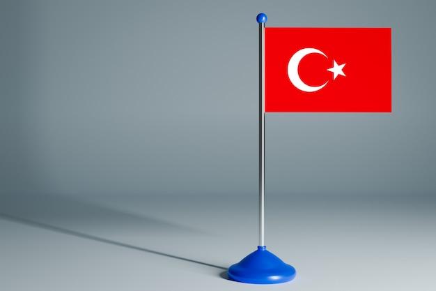 Bandiera da tavolo bianco
