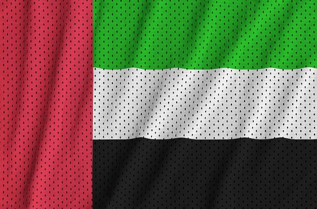 Bandiera degli emirati arabi uniti stampata su una rete di nylon poliestere