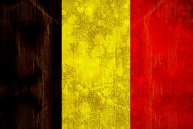 Bandiera del belgio in effetto grunge