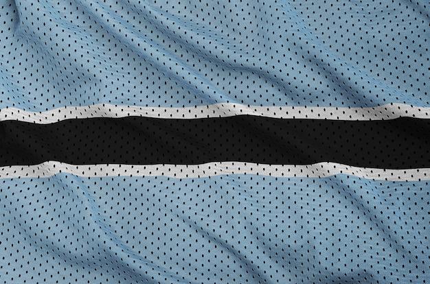 Bandiera del botswana stampata su un tessuto a rete per abbigliamento sportivo in nylon poliestere