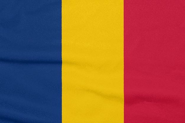 Bandiera del ciad su tessuto strutturato