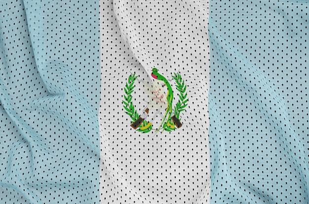 Bandiera del guatemala stampata su un tessuto a rete per abbigliamento sportivo in nylon poliestere
