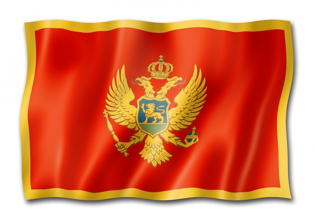 Bandiera del montenegro isolata