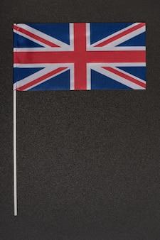 Bandiera del regno unito su sfondo nero