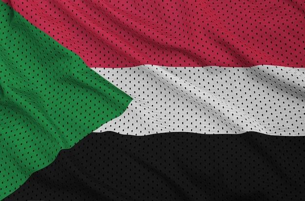 Bandiera del sudan stampata su una rete di nylon poliestere