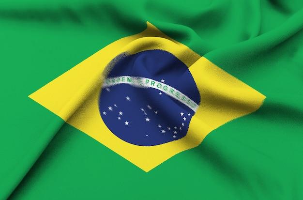 Bandiera del tessuto del brasile