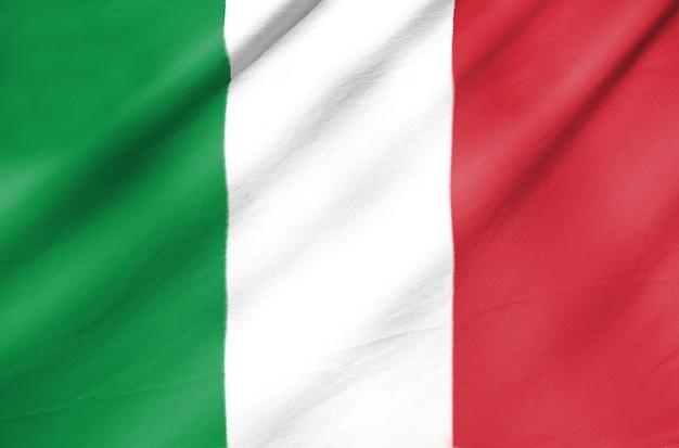 Bandiera del tessuto dell'italia
