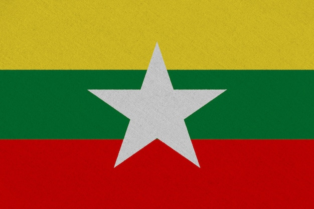 Bandiera del tessuto myanmar