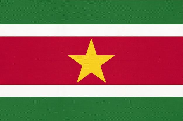 Bandiera del tessuto nazionale del suriname