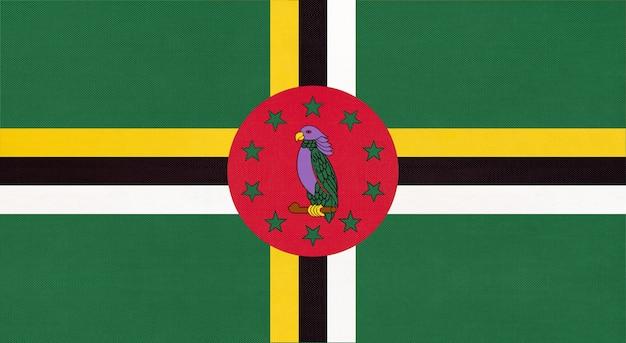 Bandiera del tessuto nazionale della dominica