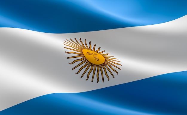 Bandiera dell'argentina. illustrazione della bandiera argentina agitando.