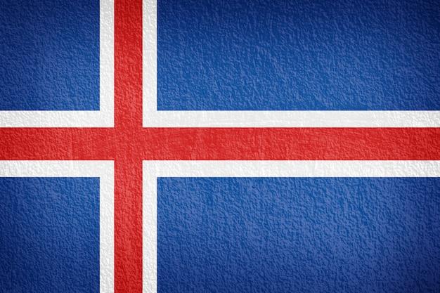 Bandiera dell'islanda dipinta sulla parete del grunge