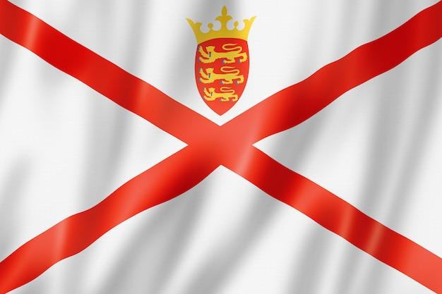Bandiera dell'isola di jersey, regno unito