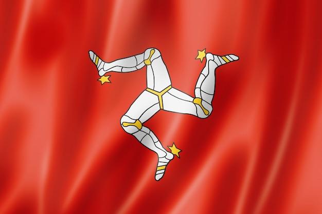 Bandiera dell'isola di man, regno unito